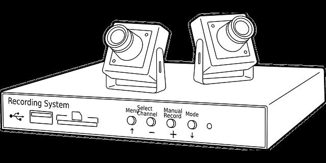 une caméra de vidéo surveillance intérieur