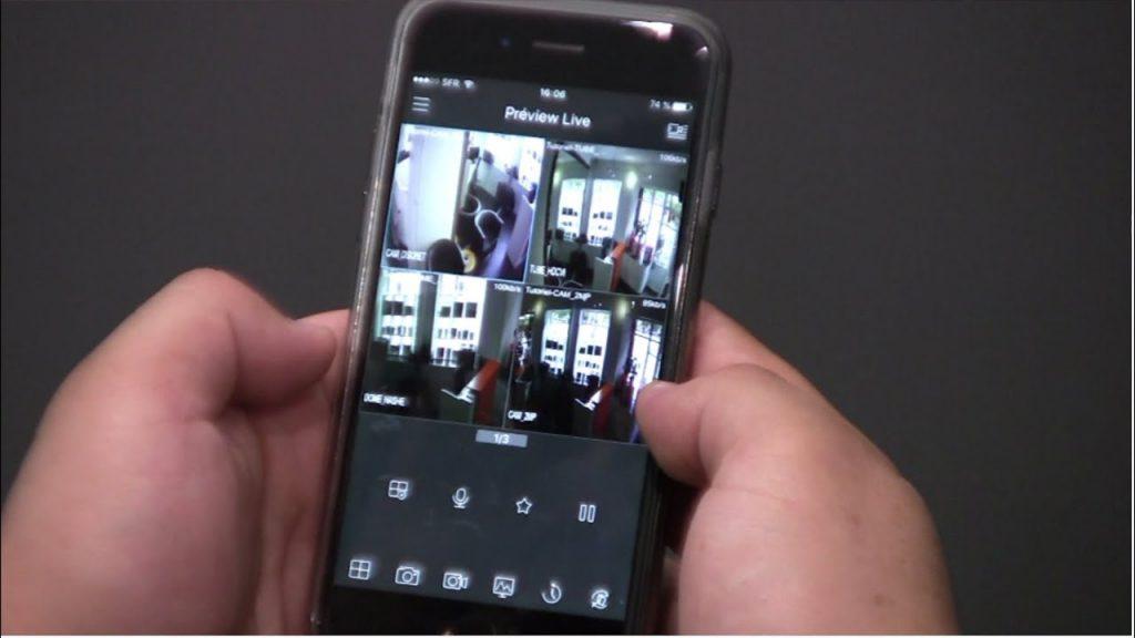 devis camera surveillance distance smartphone